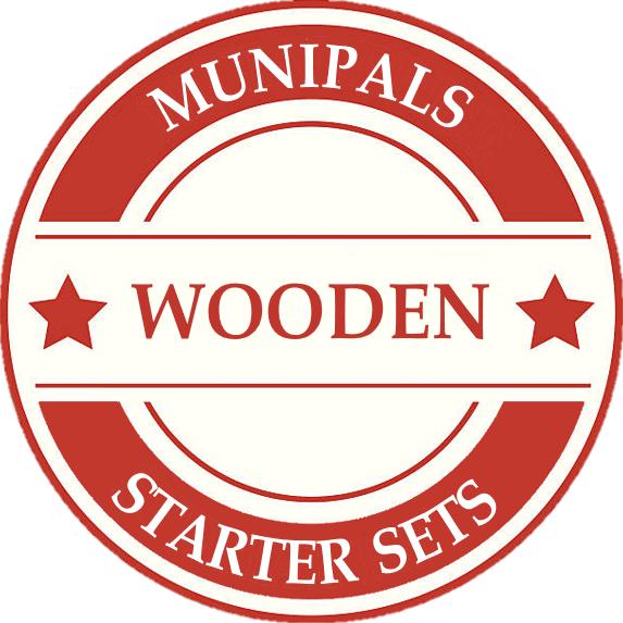 Munipals Wood Model Train Sets