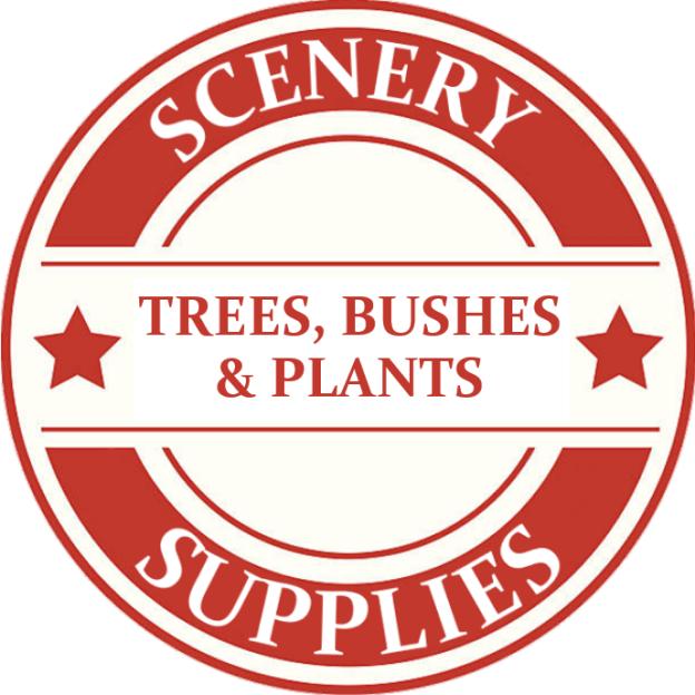 Tinplate Scenery Trees Bushes & Plants Model Trains
