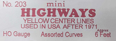 Leisuretime Products -- Mini Highways | Model Train Accessories