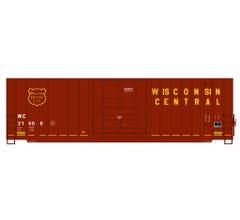 InterMountain #4130005 Gunderson 50' Single Door High Cube Boxcar w/Modern Ends - Wisconsin Central