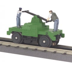 MTH 30-2526 Maintenance Of Way - Green Operating Hand Car