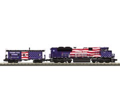MTH #30-20822-1 Montana Rail Link SD70ACe Imperial Diesel & Caboose Set- Thank You Veterans