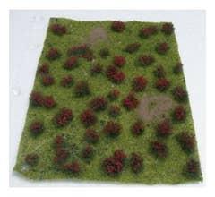 "JTT #95604 Flowering Meadow Red 5"" x 7"" Sheet (12.7cm x 17.8cm)"