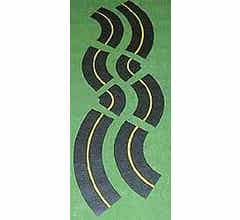 Leisuretime #406-403 Mini-Roadway Curves, 6', Assorted
