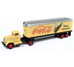 Classic Metal Works #31188 WHITE WC22 TRACTOR TRAILER SET (COCA-COLA)