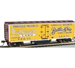 Bachmann #16332 Track Cleaning Woodside Reefer - Evansville Packing Co