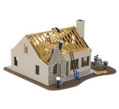 Lionel #6-84792 House Under Construction