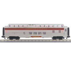 MTH 30-68195 60' Streamlined Full-Length Vista Dome Car - Pennsylvania