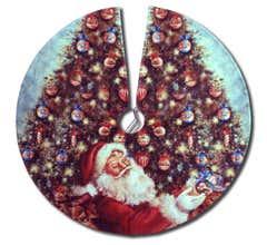 Lionel #9-33053 Angela Trotta Thomas 'Santa's Finishing Touch' Tree Skirt