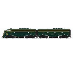 Broadway Limited #6653 EMD F3 A/B Set CNJ #51/#3C Green/Yellow Scheme A-unit Paragon4 Sound/DC/DCC Unpowered B