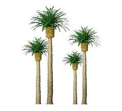 JTT #94352 Phoenix Palm Trees - 1'' Tall (6 per packge)