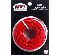 Atlas 316 Layout Wire-Red 50'