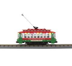 MTH #30-5200 Bump-n-Go Trolley With LED Lights - Christmas