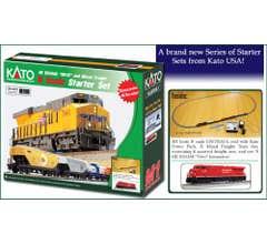 """Kato #106-0023 GE ES44AC 'GEVO"""" & Mixed Freight Starter Set - Union Pacific"""