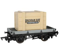 Bachmann #77403 Thomas & Friends - 1 PLANK WAGON WITH BRENDAM BAY SHIPPING CO. CRATE