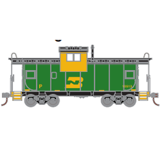 Athearn Roundhouse #1354 Wide Vision Caboose - Burlington Northern