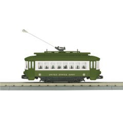 MTH #30-5184 US Army Bump-n-Go Trolley- (Trainworld Exclusive)