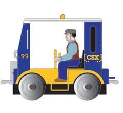 Bachmann #96257 CSX Speeder