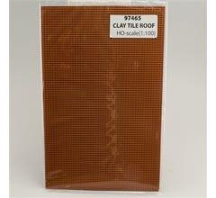 JTT #97465 Clay Tile Roof HO-scale (1:100) 2/pk