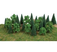 Walthers #949-1179 Mixed Trees w/Flat Base pkg(25)