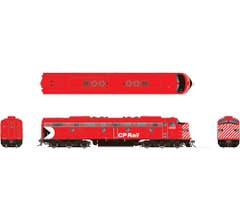 "Rapido #28515 EMD E8A with DC/DCC/Sound: CP Rail - Action Red 5"" Stripes: #1800"