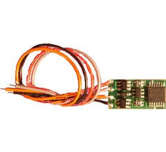 NCE #5240119 (N12SR) N Scale Generic N Scale Sized Decoder, 2 Functions, 3 inch wires N12SR