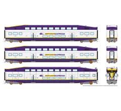 Rapido #146018 BiLevel Commuter Car - WCE set1
