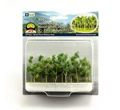 "JTT #95619 Woods Edge Trees, Pastel Green, 2"" to 2.5"", 20/pk"