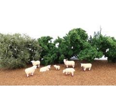 Bachmann #33172 Sheep 6pc/pk