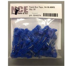 NCE #5240274 Track Bus Taps, (Blue), package of 32, 14-16AWG TBTB32