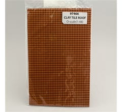 JTT #97466 Clay Tile Roof O-scale (1:48) 2/pk