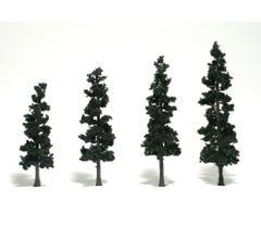 Woodland Scenics #TR1561 4 Pine Trees (Conifer Green)