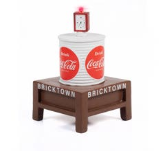 Classic Metal Works #TC115 TRAXSIDE COLLECTION 1940-1960'S ERA WATER TOWER WITH LIGHT - COCA-COLA