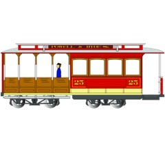 Bachmann #60529 Cable Car with Grip Man - Red/Gray