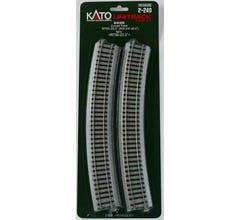 """Kato #2-240 730mm (28 3/4"""") Radius 22.5º Curve Track [4 pcs]"""