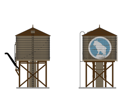 Broadway Limited #6143 Operating Water Tower w/ Sound w/ GN Logo Weathered Brown O