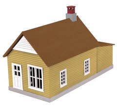 MTH #30-90008 Mustard & Red Work House #1