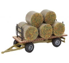 Walthers #949-4192 Hay Trailer with Load - Kit