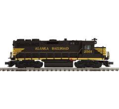 MTH #20-21550-1  GP-35 Low Hood Diesel Engine w/Proto-Sound 3.0 (Hi-Rail Wheels) - Alaska  Cab No. 2501