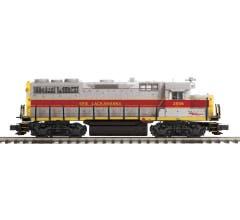 MTH #20-21553-1  GP-35 Low Hood Diesel Engine w/Proto-Sound 3.0 (Hi-Rail Wheels) - Erie Lackawanna  Cab No. 2556