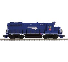 MTH #20-21555-1  GP-35 Low Hood Diesel Engine w/Proto-Sound 3.0 (Hi-Rail Wheels) - Missouri Pacific  Cab No. 622