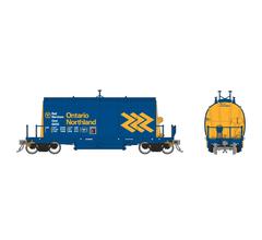 Rapido #143008A HO Long Barrel Ore Hopper: ONR Chevron Scheme