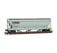 Micro Trains #09400031 3-Bay Covered Hopper - Norfolk Southern