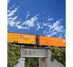 Walthers #933-4505 30' Single Track Railroad Deck Girder Bridge - Standard Level Kit