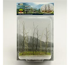 "JTT #95630 Woods Edge Trees, Bare, 4"" to 5.5"", O-scale, 8/pk"