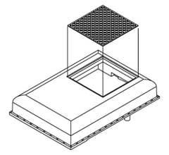 Athearn #G11649 Winterization Hatch Set w/Square Grille F-Unit (3pcs)