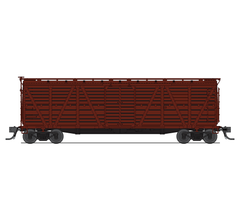 Broadway Limited #5899 K7A Stock Car Unlettered Boxcar Red Hog Sounds