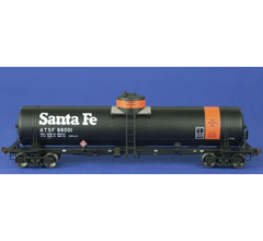 American Limited Models #1815 GATC Tank Car ATSF #98001 Orange band car journal oil service with 1970s Santa Fe logo lettering
