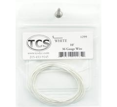 TCS #1299 10' 36 Gauge White Wire