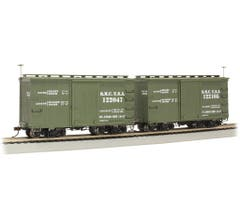 Bachmann #26556 18 ft. Box Car W/ Murphy Roof - QMC #122047 & 122105 - (2/box)